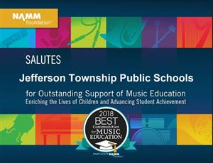 Jefferson Twp. Music Education Award