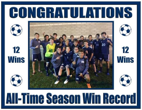JTHS Boys Soccer Record Breaking Season