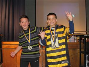 4th grade 2 person winners